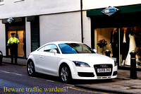 Audi T car and Traffic Warden