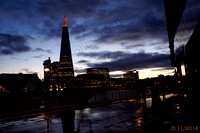 The Shard in late evening