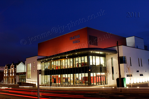 The Baths Hall Scunthorpe at Night