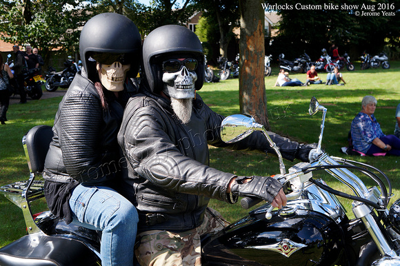 Skeleton mask bikers  August 2016