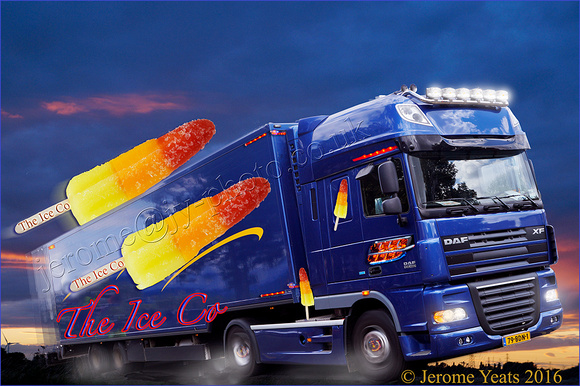 "Ice lolly ""speeding"" truck"